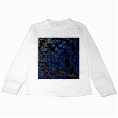 Background Abstract Art Pattern Kids Long Sleeve T-Shirts
