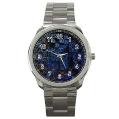 Background Abstract Art Pattern Sport Metal Watch