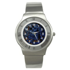Background Abstract Art Pattern Stainless Steel Watch