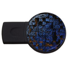 Background Abstract Art Pattern USB Flash Drive Round (4 GB)