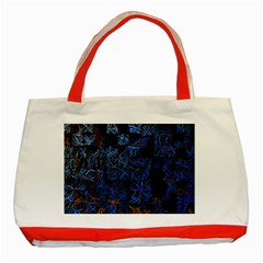 Background Abstract Art Pattern Classic Tote Bag (red)