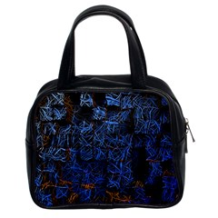 Background Abstract Art Pattern Classic Handbags (2 Sides)