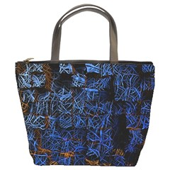 Background Abstract Art Pattern Bucket Bags