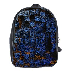 Background Abstract Art Pattern School Bags(large)