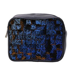 Background Abstract Art Pattern Mini Toiletries Bag 2 Side