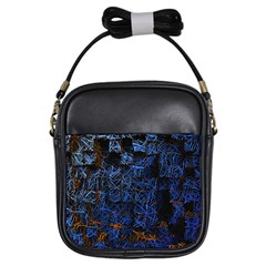 Background Abstract Art Pattern Girls Sling Bags