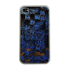 Background Abstract Art Pattern Apple iPhone 4 Case (Clear)