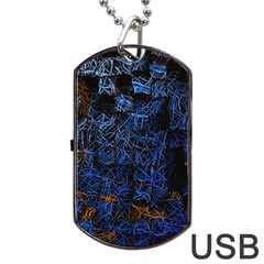 Background Abstract Art Pattern Dog Tag USB Flash (One Side)