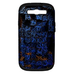 Background Abstract Art Pattern Samsung Galaxy S III Hardshell Case (PC+Silicone)