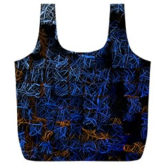 Background Abstract Art Pattern Full Print Recycle Bags (L)