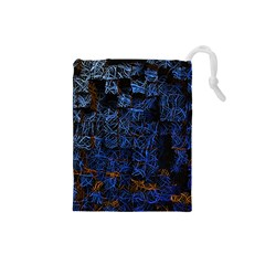 Background Abstract Art Pattern Drawstring Pouches (Small)