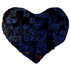 Background Abstract Art Pattern Large 19  Premium Flano Heart Shape Cushions