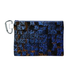 Background Abstract Art Pattern Canvas Cosmetic Bag (M)