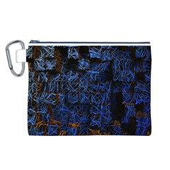 Background Abstract Art Pattern Canvas Cosmetic Bag (l)