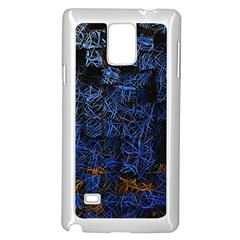 Background Abstract Art Pattern Samsung Galaxy Note 4 Case (White)