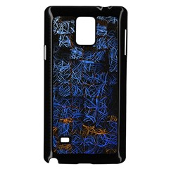 Background Abstract Art Pattern Samsung Galaxy Note 4 Case (Black)