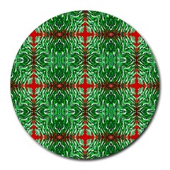 Geometric Seamless Pattern Digital Computer Graphic Round Mousepads