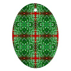 Geometric Seamless Pattern Digital Computer Graphic Ornament (oval)