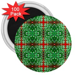 Geometric Seamless Pattern Digital Computer Graphic 3  Magnets (100 pack)