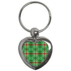 Geometric Seamless Pattern Digital Computer Graphic Key Chains (Heart)