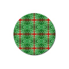 Geometric Seamless Pattern Digital Computer Graphic Magnet 3  (Round)