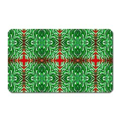 Geometric Seamless Pattern Digital Computer Graphic Magnet (Rectangular)