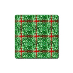 Geometric Seamless Pattern Digital Computer Graphic Square Magnet