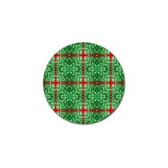 Geometric Seamless Pattern Digital Computer Graphic Golf Ball Marker