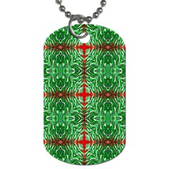Geometric Seamless Pattern Digital Computer Graphic Dog Tag (two Sides)
