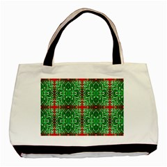Geometric Seamless Pattern Digital Computer Graphic Basic Tote Bag (Two Sides)