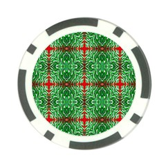 Geometric Seamless Pattern Digital Computer Graphic Poker Chip Card Guard (10 pack)