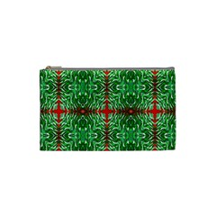 Geometric Seamless Pattern Digital Computer Graphic Cosmetic Bag (small)