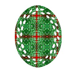 Geometric Seamless Pattern Digital Computer Graphic Oval Filigree Ornament (Two Sides)