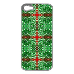 Geometric Seamless Pattern Digital Computer Graphic Apple iPhone 5 Case (Silver)