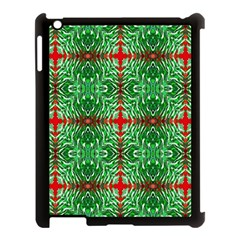 Geometric Seamless Pattern Digital Computer Graphic Apple Ipad 3/4 Case (black)