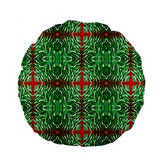 Geometric Seamless Pattern Digital Computer Graphic Standard 15  Premium Round Cushions