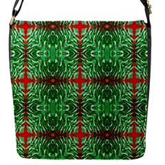 Geometric Seamless Pattern Digital Computer Graphic Flap Messenger Bag (s)