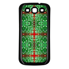 Geometric Seamless Pattern Digital Computer Graphic Samsung Galaxy S3 Back Case (black)