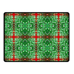 Geometric Seamless Pattern Digital Computer Graphic Double Sided Fleece Blanket (Small)