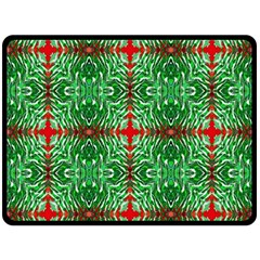 Geometric Seamless Pattern Digital Computer Graphic Double Sided Fleece Blanket (Large)