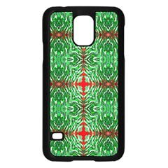 Geometric Seamless Pattern Digital Computer Graphic Samsung Galaxy S5 Case (Black)