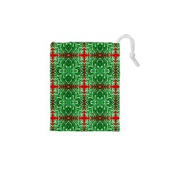 Geometric Seamless Pattern Digital Computer Graphic Drawstring Pouches (xs)