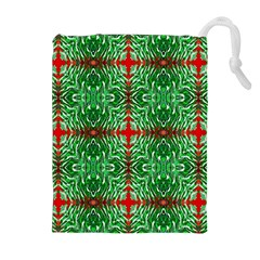 Geometric Seamless Pattern Digital Computer Graphic Drawstring Pouches (extra Large)