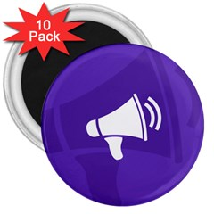 Announce Sing White Blue 3  Magnets (10 pack)