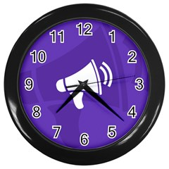 Announce Sing White Blue Wall Clocks (Black)