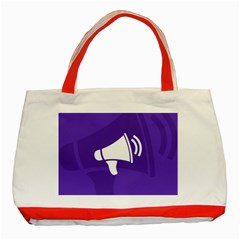 Announce Sing White Blue Classic Tote Bag (Red)