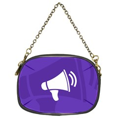 Announce Sing White Blue Chain Purses (One Side)
