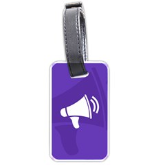 Announce Sing White Blue Luggage Tags (One Side)