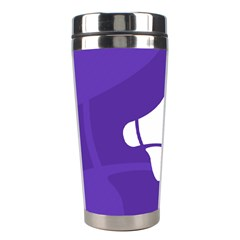 Announce Sing White Blue Stainless Steel Travel Tumblers