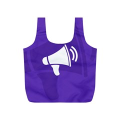 Announce Sing White Blue Full Print Recycle Bags (S)